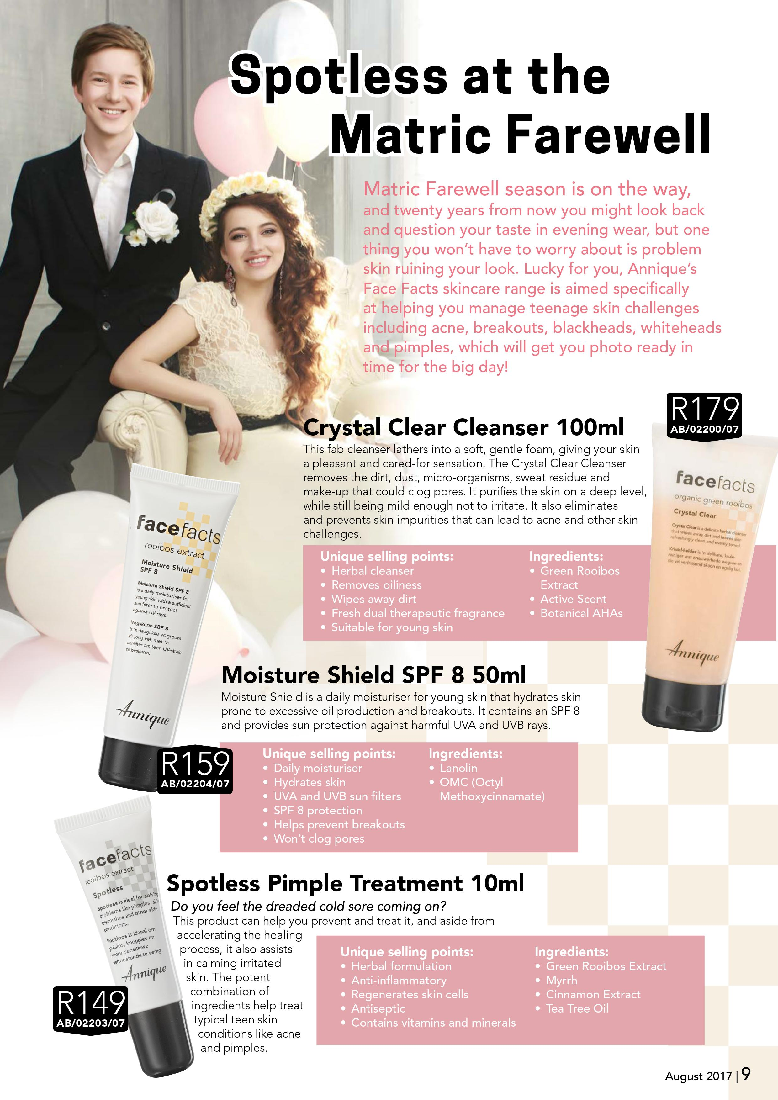 Skin Care and make up for the matric dance, Somerset West